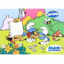 фото Альбом для рисования Росмэн «Смурфики» 1. В ассортименте. Количество листов: 24