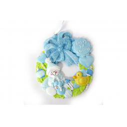 фото Елочное украшение Crystal Deco «Венок для малыша». Цвет: голубой