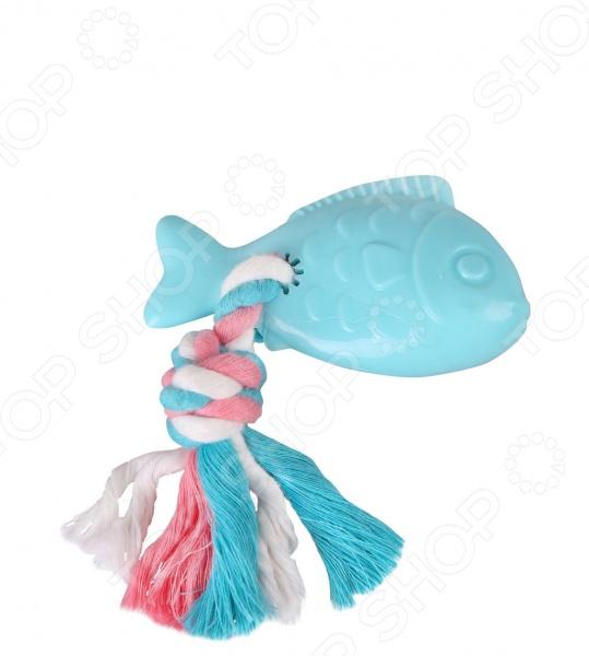 Игрушка для собак DEZZIE «Рыба с веревкой» игрушка для собак dezzie кегля с веревкой