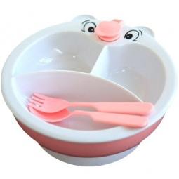 Купить Набор посуды СКАЗКА: тарелка из 3-х секций, ложка, вилка