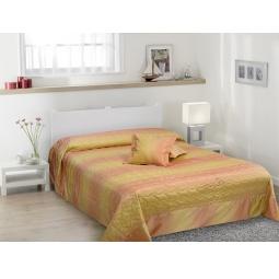 фото Покрывало с подушками TAC Melanie. Цвет: розовый, золотистый
