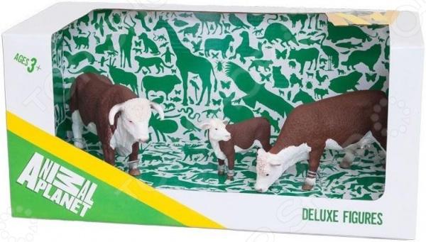 Набор фигурок зверей Animal Planet «Херефордские коровы»