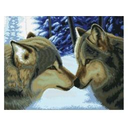 Купить Набор для вышивания Белоснежка Два волка