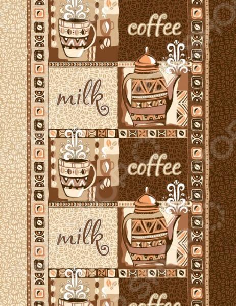 Полотенце вафельное ТексДизайн «Кофе» цены