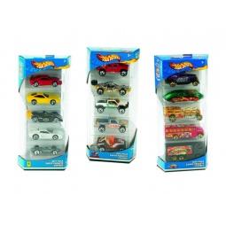 фото Набор игрушечных машинок Mattel Подарочный. Серия Hot Wheels из 5 машинок