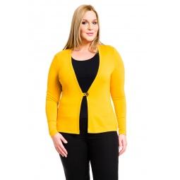 фото Жакет Mondigo XL 426. Цвет: ярко-горчичный. Размер одежды: 48