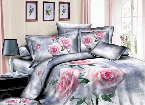 Комплект постельного белья с эффектом 3D Мар-Текс «Розовая роза». ЕвроЕвро<br>Комплект постельного белья с эффектом 3D Мар-Текс Розовая роза . Евро оптимальный выбор для создания уюта и комфорта! Человек треть своей жизни проводит в постели, и от ощущений, которые вы испытываете при прикосновении к простыням или наволочкам, многое зависит. Чтобы сон всегда был комфортным, а пробуждение приятным, мы предлагаем вам этот комплект постельного белья. Приятный цвет и высокое качество комплекта гарантирует, что атмосфера вашей спальни наполнится теплотой и уютом, а вы испытаете множество сладких мгновений спокойного сна. Фотопечать 3D это красочные, объемные, реалистичные рисунки, нанесенные на ткань методом реактивной, многопиксельной печати. Постельные принадлежности с 3D эффектом имеют более глубокий и сочный рисунок, благодаря подбору правильной комбинации пигментов и особой технологии нанесения рисунка. Такой эффект создает живую картину в вашей спальне. Преимущества белья:  Богатая расцветка;  Высокое качество сырья;  Используются безопасные пигменты при окрашивании;  Реалистичное изображение.<br>