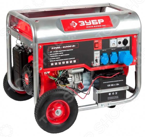 Генератор бензиновый Зубр ЗЭСБ-6200-ЭН генератор бензиновый зубр зэсб 1200