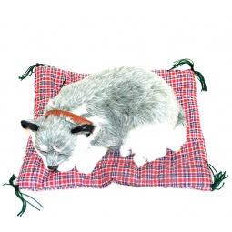 фото Мягкая игрушка интерактивная Zzz «Дышащая Сибирская хаски на коврике»