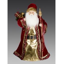 Купить Игрушка новогодняя Holiday Classics «Дед Мороз с посохом и мешком подарков»