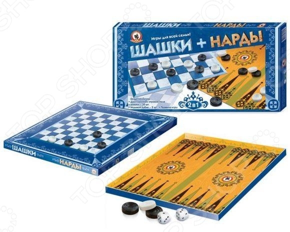 Набор для игры в шашки и нарды Русский стиль 02021 нарды шашки сирия фиолетовые большие rasf60