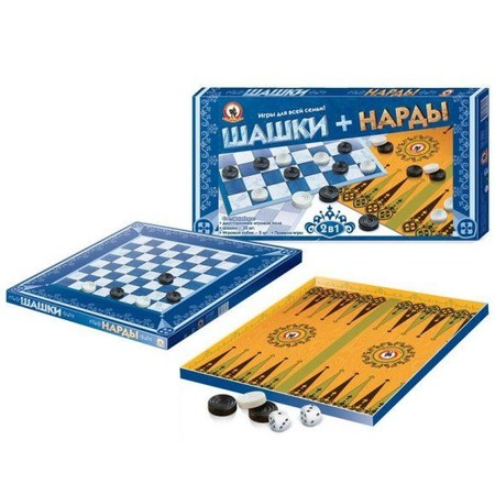 Купить Набор для игры в шашки и нарды Русский стиль 02021