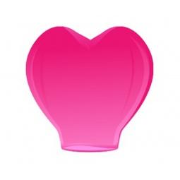 фото Сердце малое Небесные Фонарики 2D. Цвет: розовый