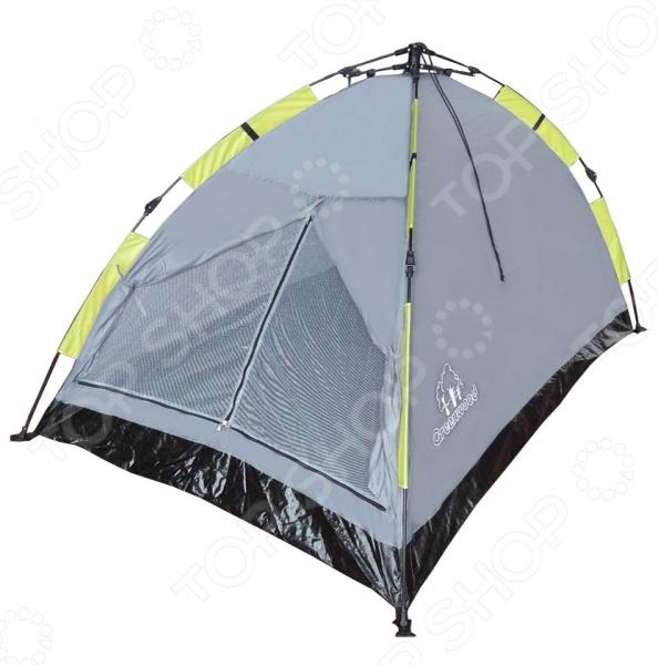 Палатка Greenwood Mat-192-2Палатки<br>Быстросборная палатка Greenwood Mat-192-2 это прекрасный выбор для любителей активного отдыха, трекинга и турпоходов. Она станет отличным дополнением к набору ваших туристических принадлежностей и поможет сделать отдых максимально комфортным. Тент палатки выполнен из полиэстера с водостойкой пропиткой, а пол из армированного полиэтилена. Модель снабжена фибергласовым каркасом, проклеенными швами и антимоскитной сеткой. В верхней части купола имеется вентиляционное окно.<br>