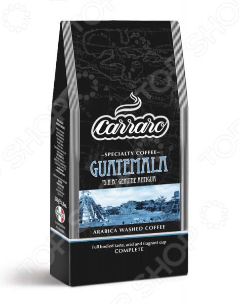 Кофе молотый Carraro GuatemalaКофе молотый<br>Кофе молотый Carraro Guatemala великолепный напиток, выполненный в лучших итальянских традициях. Такой образец станет прекрасной основой для приготовления ароматного и вкусного кофе, способного очаровать даже самых взыскательных гурманов и кофеманов. Этот сорт выращивается в районе Антигуа на высотах от 1600 до 2000 м, где созданы идеальные условия для созревания кофейной ягоды. Уникальный, неповторимый вкус с оттенками шоколадной сладости и легкой кислинкой достигается за счет влажной электронной обработки и тщательной ручной сортировки зерна. Благодаря тому, что обжарка кофе проходит по классической схеме и имеет среднюю интенсивность, в результате получается великолепное сырье с утонченным вкусовым букетом и многогранным ароматом. Молотый кофе имеет богатый цветочный аромат с легкими нотками альпийских трав, что делает его идеальным напитком к сладким и обычным блюдам. Отлично подойдет для приготовления американо.<br>