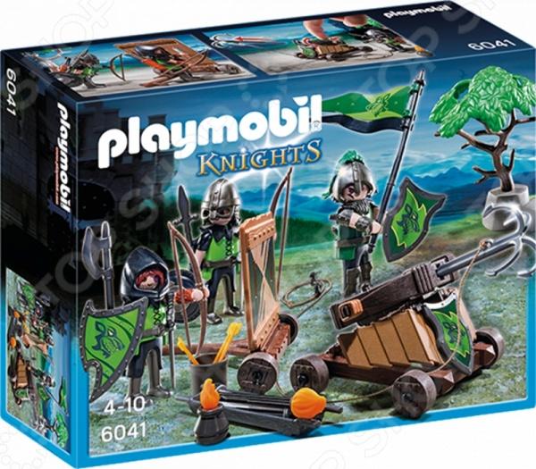 Конструктор игровой Playmobil 6041 «Рыцари: Катапульта Рыцарей Волка» конструктор playmobil модный бутик девушка в летнем наряде 6882pm
