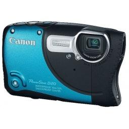фото Фотокамера цифровая Canon PowerShot D20. Цвет: голубой