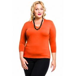 фото Кофта Mondigo XXL 052. Цвет: оранжевый. Размер одежды: 56