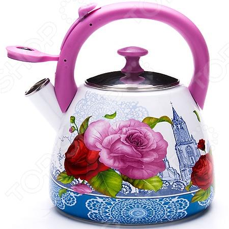 Чайник со свистком Mayer&Boch MB-23936 «Розы»
