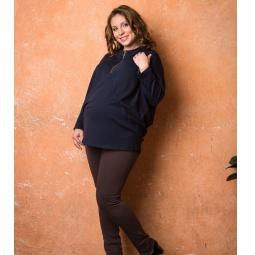 фото Леггинсы теплые для беременных Nuova Vita 5203.04. Цвет: коричневый. Размер одежды: 50