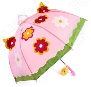 Зонтик Mary Poppins Цветочек 53526 предназначен специально для девочки. Его цветочный купол защитит вашу малышку от непогоды. Ни проливной дождь, ни сильный ветер с этим аксессуаром не страшны, ведь купол очень надежно закреплен на каркасе. Изогнутая форма ручки позволяет крепко держать зонт в руках. В целях безопасности, концы спиц закрыты пластиковыми шариками. Простоту складывания обеспечивает механическая система. Диаметр купола составляет 46 см.