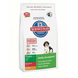 фото Корм сухой для щенков средних пород Hill's Science Plan Puppy Medium с курицей. Вес упаковки: 3 кг