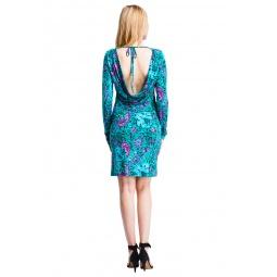 фото Платье Mondigo 7088-1. Цвет: изумрудный. Размер одежды: 48