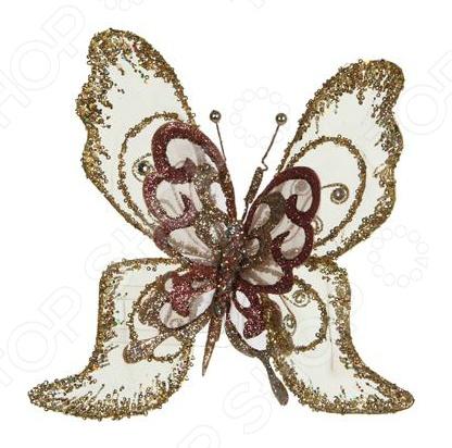 Елочное украшение Christmas House «Бабочка с блестками»