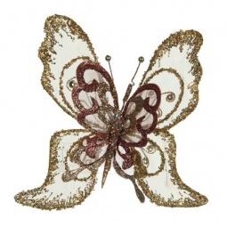 фото Елочное украшение Christmas House «Бабочка с блестками»