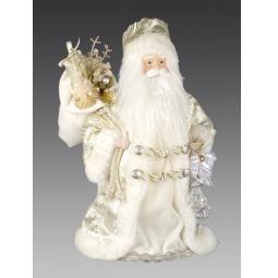 фото Игрушка новогодняя Holiday Classics «Дед Мороз с мешком подарков и кристаллом»