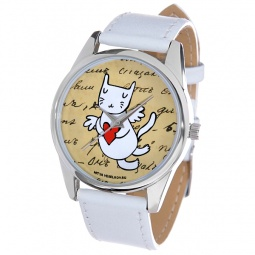 фото Часы наручные Mitya Veselkov «Кошка-амур с сердцем»