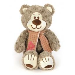 фото Мягкая игрушка Fluffy Family «Мишка Митя с шарфом». Размер: 25 см. Цвет: бежевый