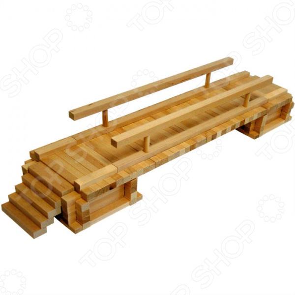 Конструктор деревянный Теремок «Деревенский мостик» keranova конструктор каталонский деревенский дом 30206