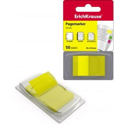 фото Набор стикеров-закладок Erich Krause пластиковых. Цвет: желтый