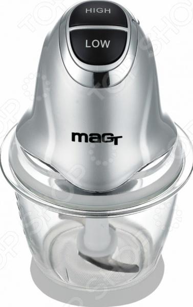 Измельчитель MAG MT - 6201Измельчители электрические<br>Измельчитель MAG MT - 6201 это компактный прибор, который пригодится на любой кухне. С его помощью легко можно измельчить мясо и рыбу для бифштексов, овощи и фрукты для салатов, орехи и шоколад для выпечки или присыпок. Измельчитель очень прост в эксплуатации, а лезвия из нержавеющей стали отличаются повышенной долговечностью. Для удобства есть мерная шкала прямо на чаше чоппера.<br>