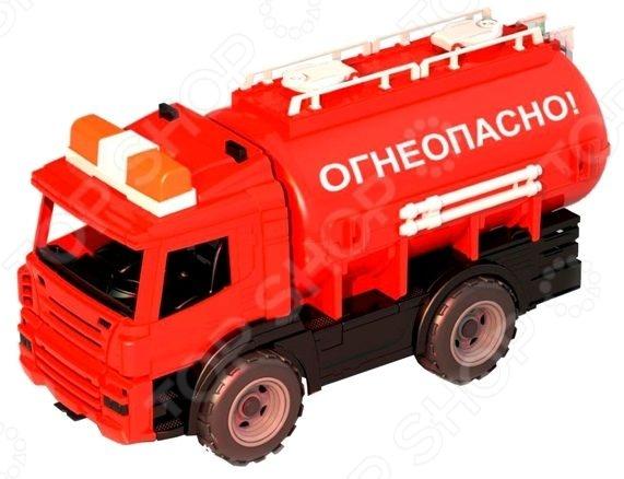 Машинка игрушечная Нордпласт «Цистерна. Огнеопасно» плед arya home collection arya home collection mp002xu0e1sc