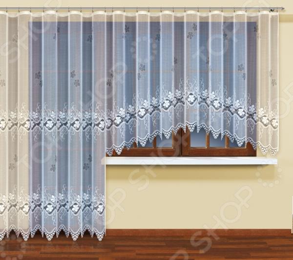 Комплект гардин Haft для окна с балконом. Цвет: белыйЗанавески. Гардины. Тюли<br>Комплект гардин Haft для окна с балконом роскошный и элегантный комплект штор, который станет идеальным украшением вашего дома. Особое место комплект займет в комнате, где располагается балкон. В набор входят 2 гардины, которые вместе составляют удивительную и практичную композицию. Изделия выполнены из качественного материала - полиэстера. Он отличается удивительной износоустойчивостью. Эти гардины не будут терять свою форму и привлекательный внешний вид, даже после многочисленных стирок. Гардины украшены легким ажурным рисунком и легко крепятся на карниз при помощи специальной шторной ленты. С её помощью вы сможете равномерно и красиво задрапировать верх. Красивый и элегантный комплект станет настоящим украшением вашего дома, которое будет ещё долгое время радовать вас и вашу семью!<br>