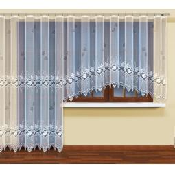 фото Комплект гардин Haft для окна с балконом. Цвет: белый. Размер тюля: 160х400 см/230х200 см