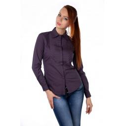 фото Рубашка Mondigo 9605. Цвет: баклажановый. Размер одежды: 44
