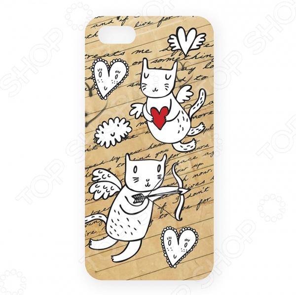 Чехол для iPhone 5 Mitya Veselkov «Коты-амуры» 202 обложка для паспорта коты амуры на сиреневом ozam359