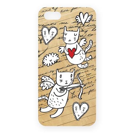 Чехол для iPhone 5 Mitya Veselkov «Коты-амуры» 202