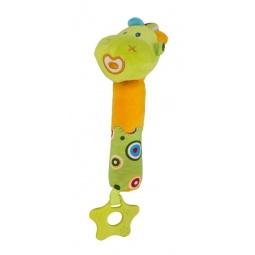 фото Мягкая игрушка развивающая Жирафики 93913 «Динозаврик с пищалкой»