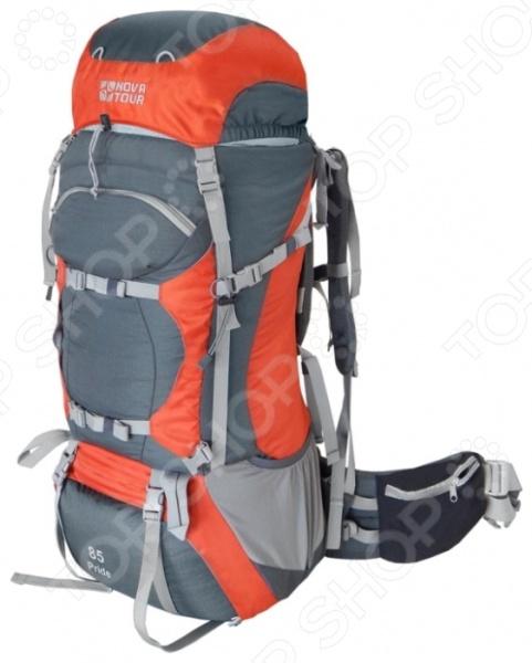 Рюкзак экспедиционный NOVA TOUR «Прайд 85»Туристические рюкзаки и аксессуары<br>Рюкзак экспедиционный NOVA TOUR Прайд 85 - удобная, практичная и прочная модель незаменима в длительных маршрутах с большим количеством груза. Модель имеет облегченную подвесную систему ABS2. Вес равномерно распределяется на плечи и пояс, уменьшает нагрузку на позвоночник. Система навески разработана для большего удобства крепления горного снаряжения. Рюкзак оснащен отделением с нижним входом, который обеспечивает быстрый доступ к снаряжению. В дне рюкзака размещен гермочехол, который позволит сохранить ваши вещи сухими во время дождя.<br>
