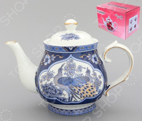 Чайник заварочный Elan Gallery «Павлин синий» 180493