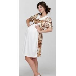 Купить Платье для беременных Nuova Vita 2114.1. Цвет: коричневый