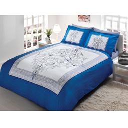 фото Комплект постельного белья TAC Caron. 1,5-спальный. Цвет: синий