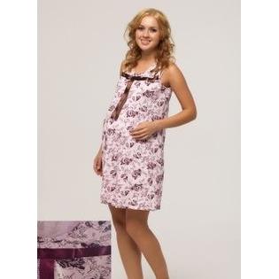 Купить Сорочка для беременных Nuova Vita 306.11. Рисунок: розы