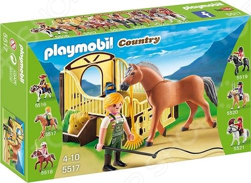 Конструктор игровой Playmobil «Конный клуб: Рабочая лошадка и загон» playmobil 5266 summer fun детский клуб с танц площадкой