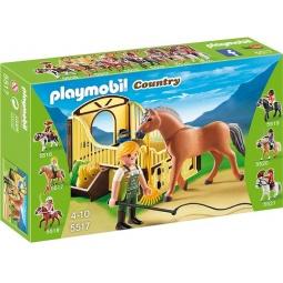 фото Конструктор игровой Playmobil «Конный клуб: Рабочая лошадка и загон»
