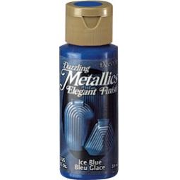 фото Краска акриловая DecoArt Dazzling Metallics. Цвет: холодный синий